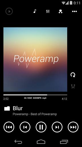 Skin for Poweramp Metro UI  screenshots 3