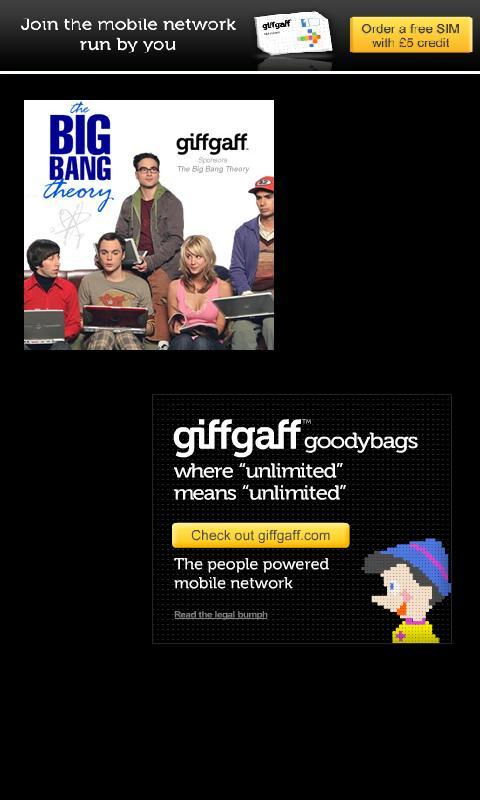 GiffGaff FREE unlimited SIMS - screenshot