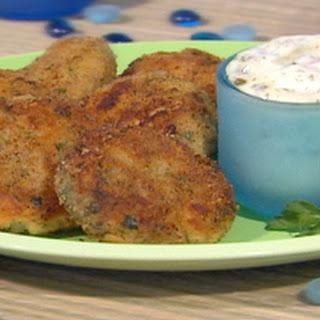 Mini Fishcakes With Dijon Caper Mayonnaise.