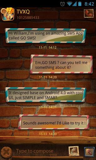GO SMS PRO STEALINGMICE THEME
