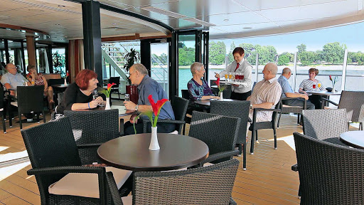 Viking-Prestige-Aquavit-Terrace-inside - Grab a bite or socialize with new friends in the Aquavit Terrace aboard Viking Prestige, which sails the scenic Danube through four countries.