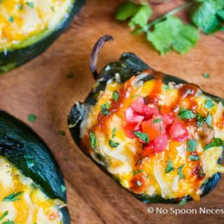Sweet Potato Hash & Egg Stuffed Poblano Peppers