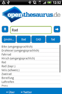 OpenThesaurus.de- screenshot thumbnail
