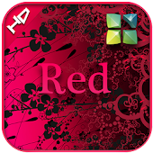 Red 3D Next launcher theme