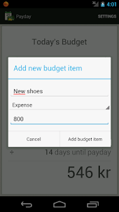 Payday - Today's budget - screenshot thumbnail
