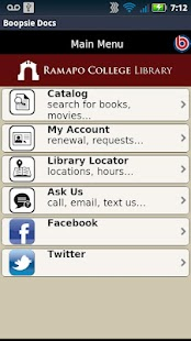 Ramapo College Library- screenshot thumbnail
