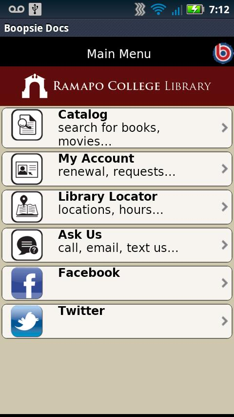 Ramapo College Library- screenshot