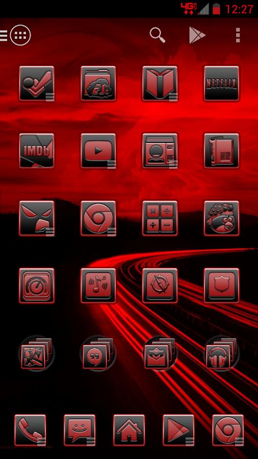 Serenity Launcher Theme Red - screenshot