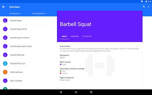 Progression - Fitness tracker - screenshot thumbnail