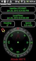 Screenshot of Satellite Check - GPS Status