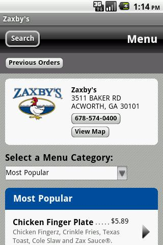 Zaxby's- screenshot