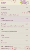 Screenshot of GO SMS Pro Love Letter Theme