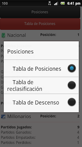 Screenshots for Liga Postobon Fútbol Colombia for Android