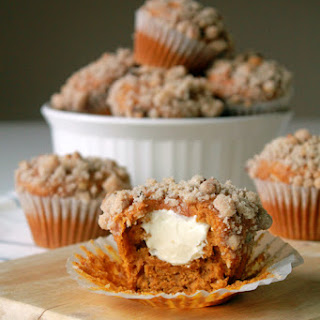 Pumpkin and Cream Cheese Muffin with Walnut Streusel.