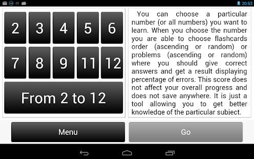 Multiplication Table.- screenshot thumbnail