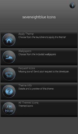 78blue icons - Nova Apex Holo  screenshots 2