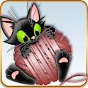 ADW Launcher Theme Black Kitty