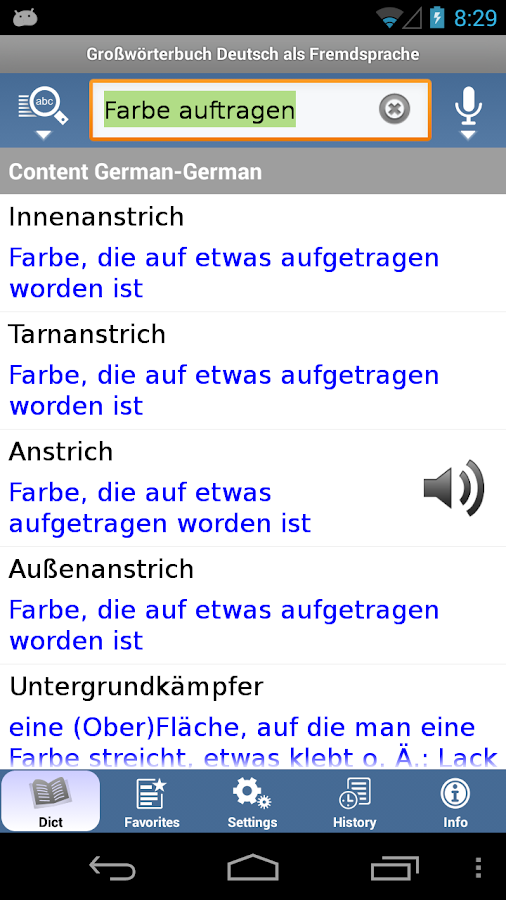 German Learner's Dictionary - screenshot