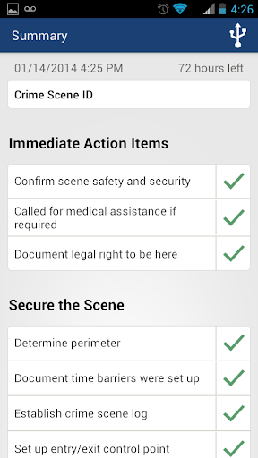 Checklist App for Scene Exam
