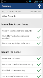 Checklist App for Scene Exam- screenshot thumbnail