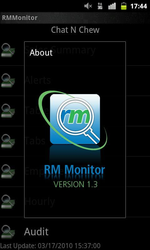Restaurant Managers RM Monitor- screenshot