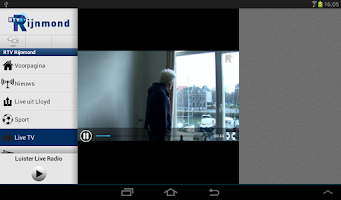 Screenshot of RTV Rijnmond - Tablet