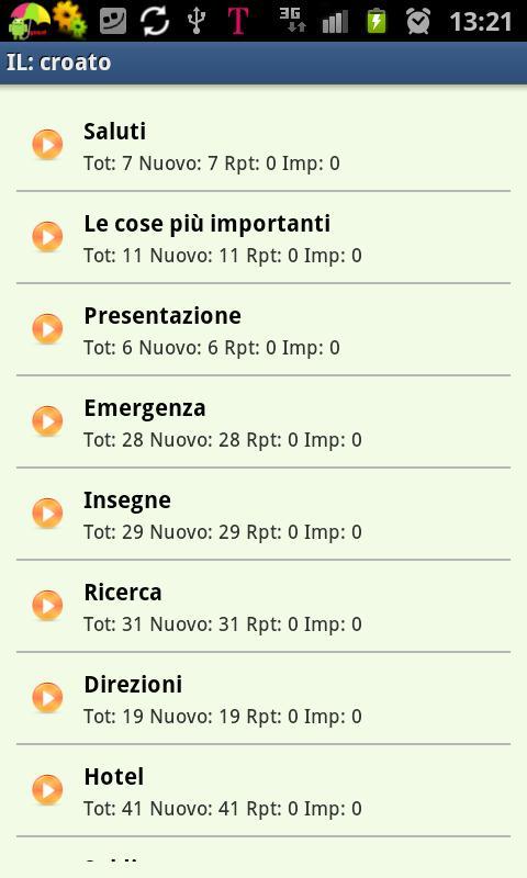 Imparare il croato- screenshot