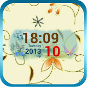 Autumn Digital Clock Widget