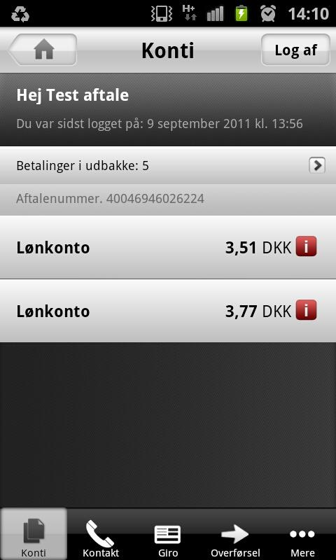 Mobilbanken - screenshot