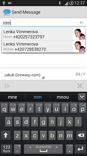 Send Message + SMS Server