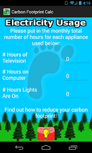 Carbon Footprint Calculator: miniatura de captura de pantalla