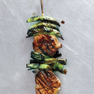 Pork and Snap Pea Kebabs with Ginger-Hoisin Glaze.