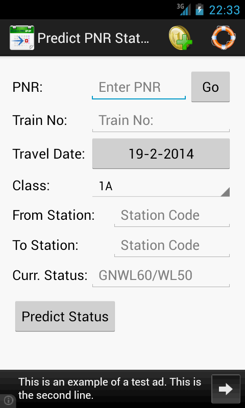 Predict PNR Status- screenshot