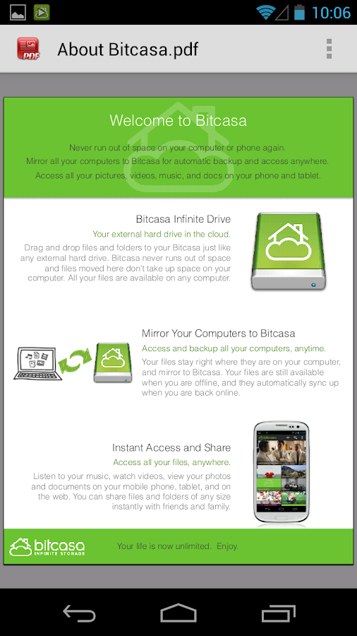 Bitcasa - screenshot