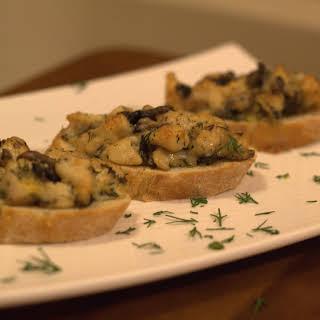 Chicken & Mushroom Canapes.