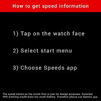 Screenshot of Speeds Watch Face