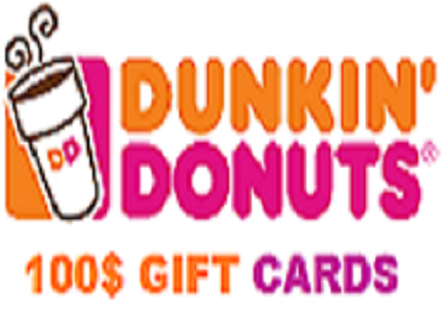 Free Dunkin Donuts Gift Cards