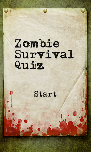 Zombie Survival Quiz