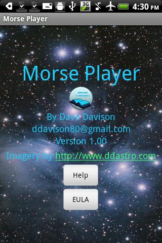 Morse Player- screenshot