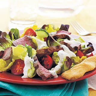 Steak Salad with Creamy Horseradish Dressing.