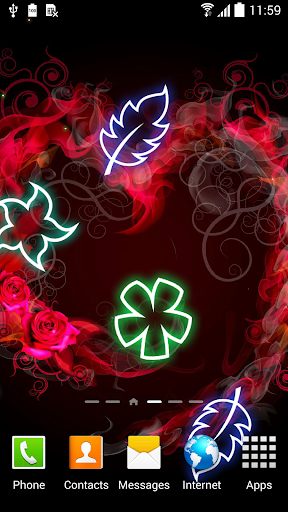 mod Glowing Flowers Live Wallpaper 1.0.8 screenshots 1