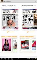 Screenshot of London Evening Standard