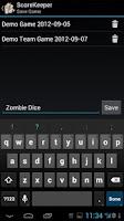 Screenshot of ScoreKeeper Plus