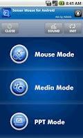 Screenshot of Sensor Mouse
