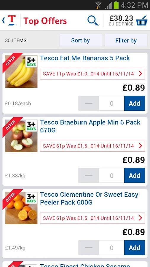 Tesco Groceries- screenshot
