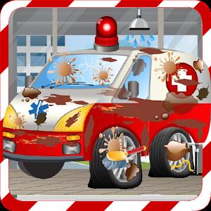 Ambulance Car Wash Games