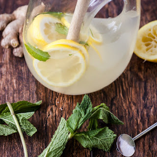 Fresh Mint Ginger Lemonade.