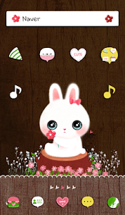 flower rabbit dodol theme - screenshot thumbnail