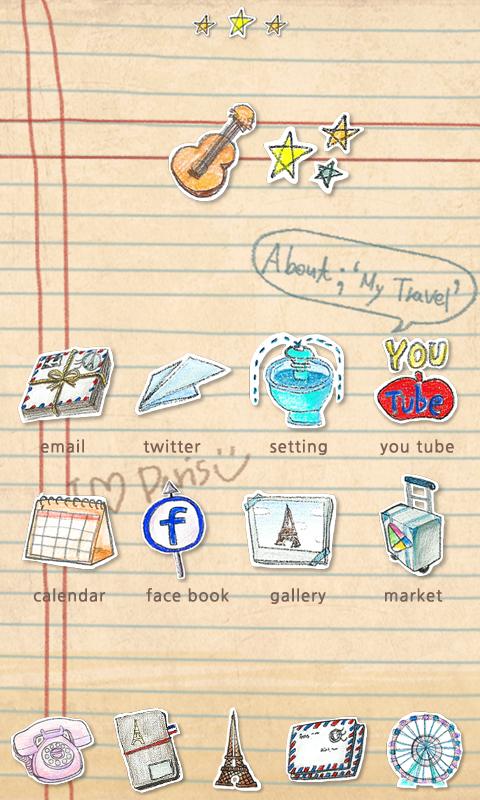 Parisien - GO Launcher Theme - screenshot