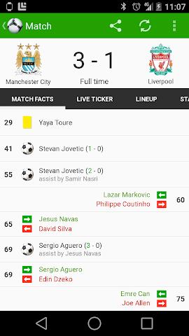 android Fußball Ergebnisse - FotMob Screenshot 3